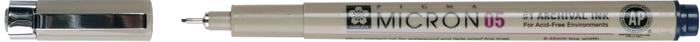 Ручка капиллярная Sakura Pigma Micron, 0.45 мм, цвет чернил: иссиня-черный набор капиллярных ручек sakura pigma micron цвет чернил черный 3 шт