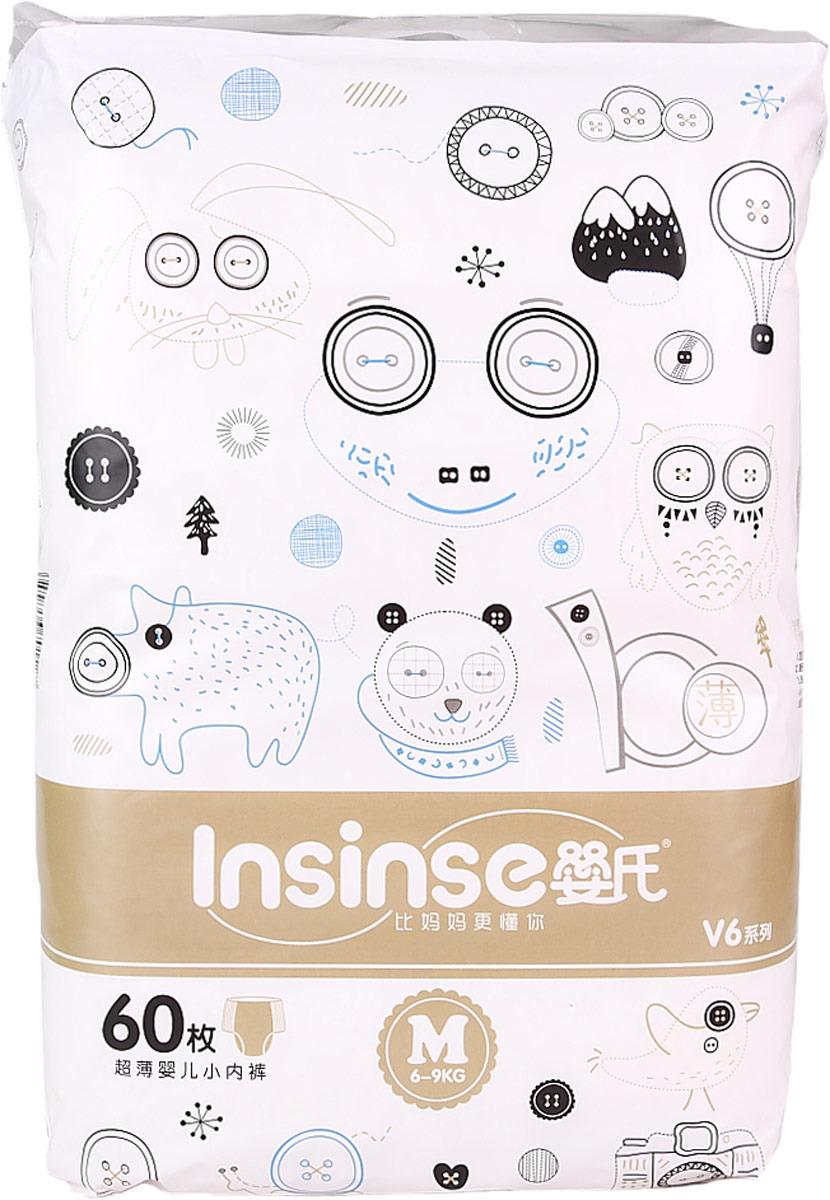 Подгузникиники-трусики детские Insinse V6, 6-9 кг, размер M, 60 шт