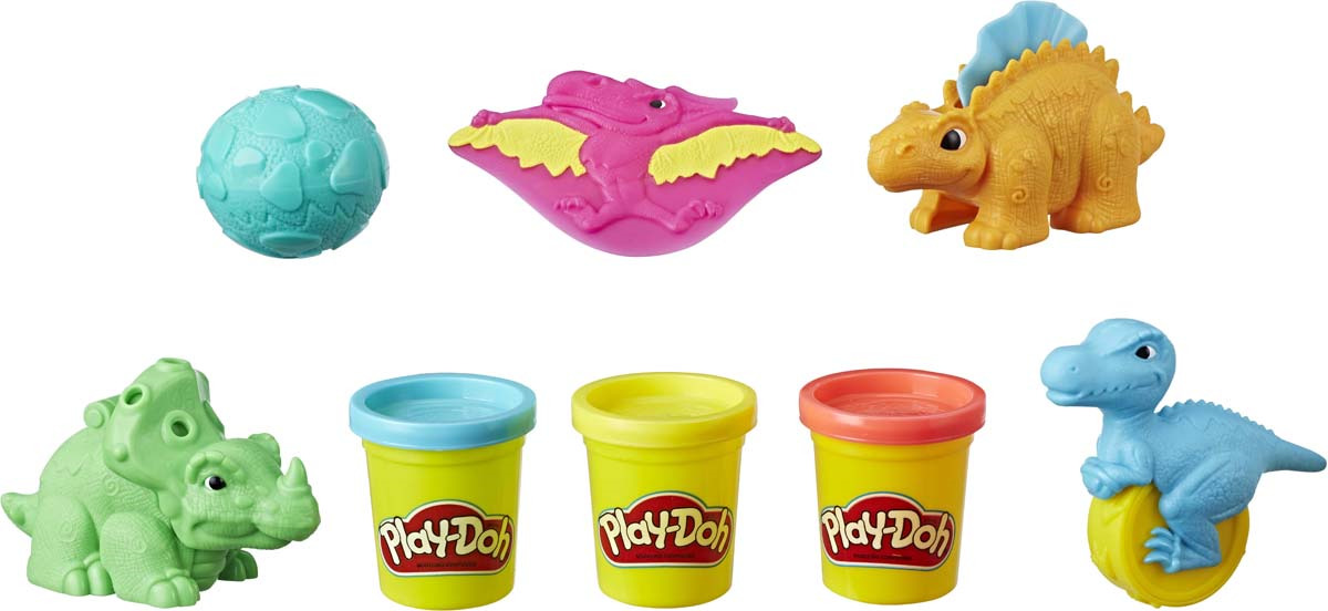"""Набор для лепки Play-Doh """"Малыши-Динозаврики"""", 8 предметов"""