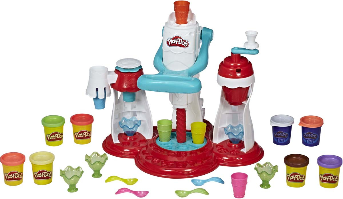 "Набор для лепки Play-Doh Kitchen Creations ""Мир мороженого"", E1935EU4, 23 предмета"