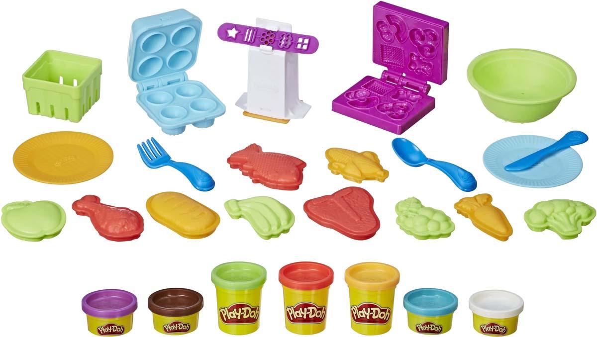 """Набор для лепки Play-Doh """"Готовим обед"""", 27 предметов"""