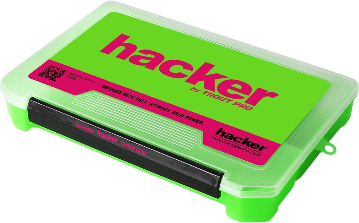 Контейнер для снастей и приманок Hacker, цвет: зеленый, 27 х 17,5 х 4 см