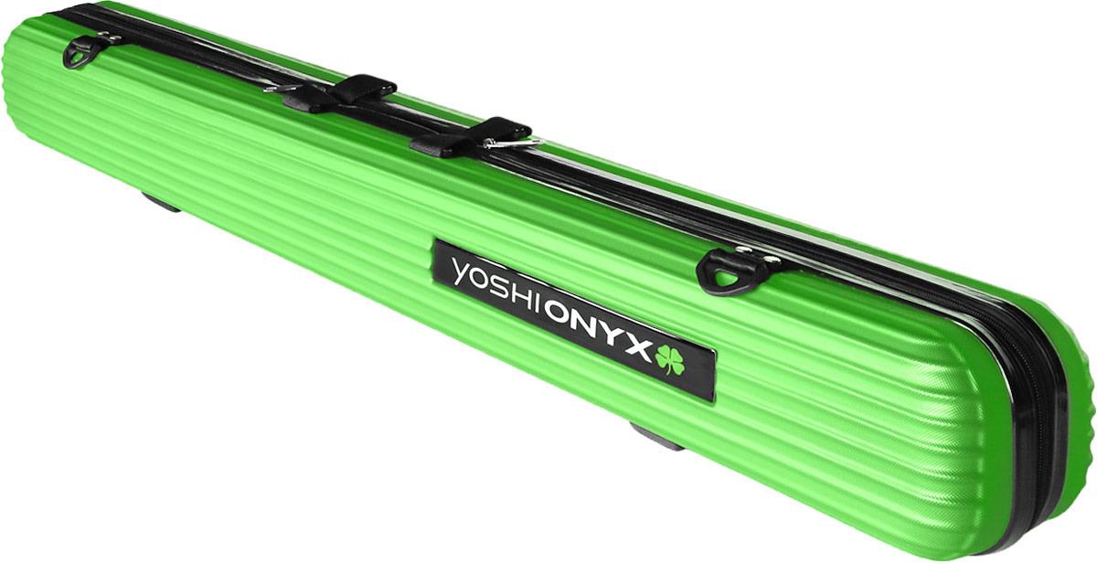 Чехол для удилищ Yoshi Onyx Rod Hard Case, цвет: салатовый, длина 125 см
