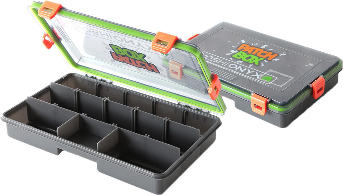 Контейнер для снастей и приманок Yoshi Onyx Patch Box, цвет: зеленый, оранжевый, 27,5 х 18 х 5 см