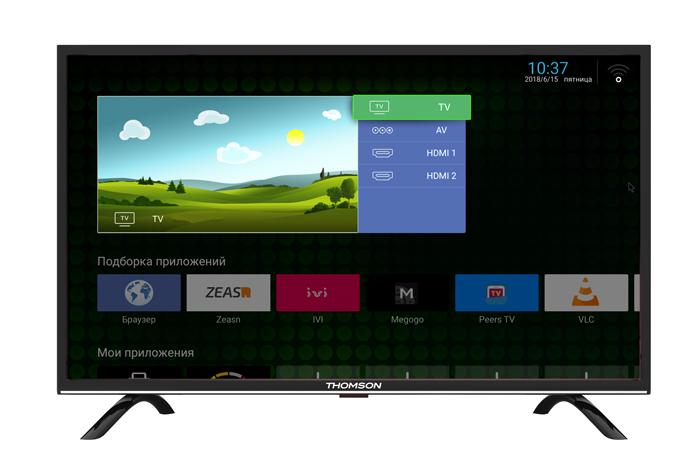Телевизор Thomson T55FSL5130 55, черный телевизор thomson t49usl5210 черный