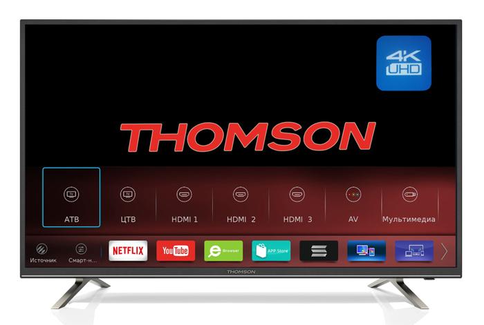 Телевизор Thomson T65USM5200 65, черный телевизор thomson t49usl5210 черный