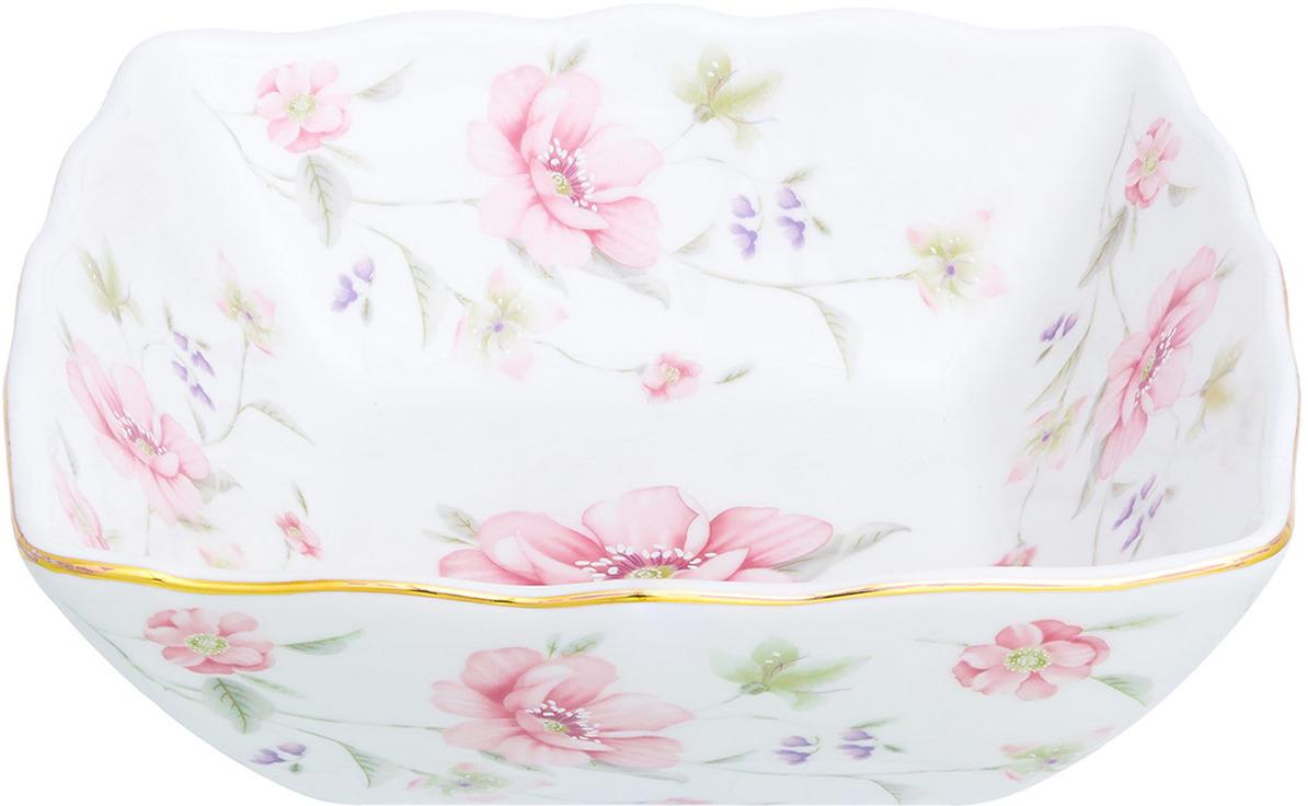 Салатник Elan Gallery Диана, цвет: белый, розовый, 600 мл салатник 600 мл polystar