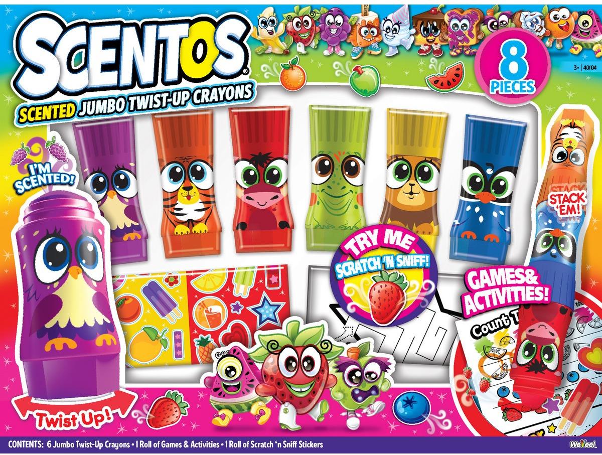 """Набор для творчества """"Scentos"""", с ароматизированными крутящимися мелками для малышей"""