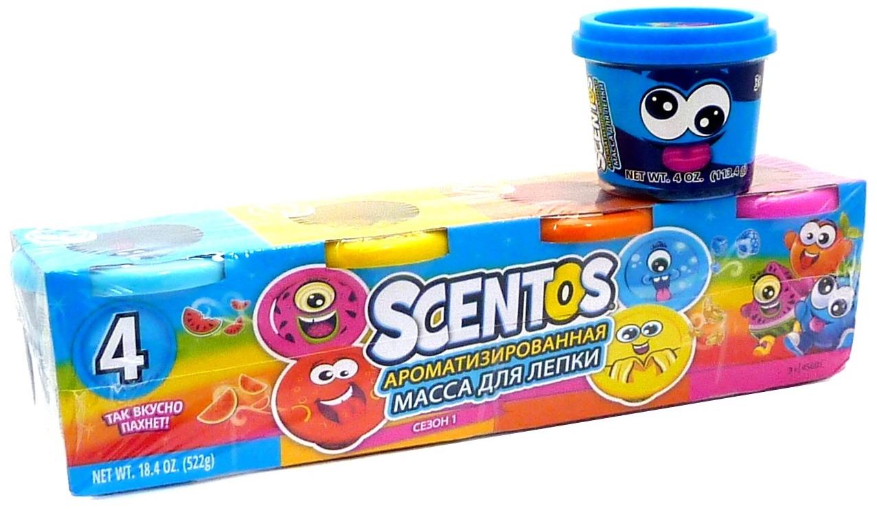 """Масса для лепки """"Scentos"""", ароматизированная, 4 банки. 45600"""