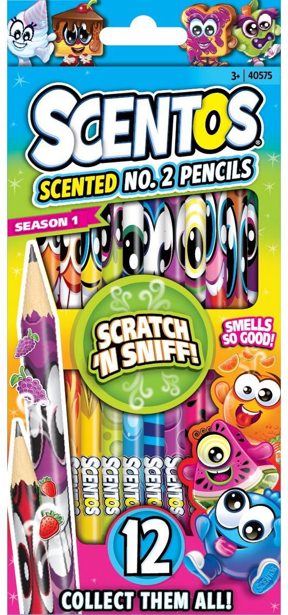"""Набор простых карандашей """"Scentos"""", ароматизированный, 12 шт"""
