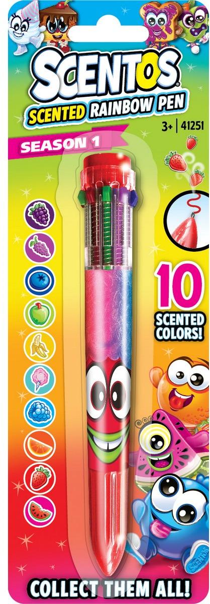 """Ручка шариковая """"Scentos"""", цвет: красный, многоцветная, ароматизированная"""