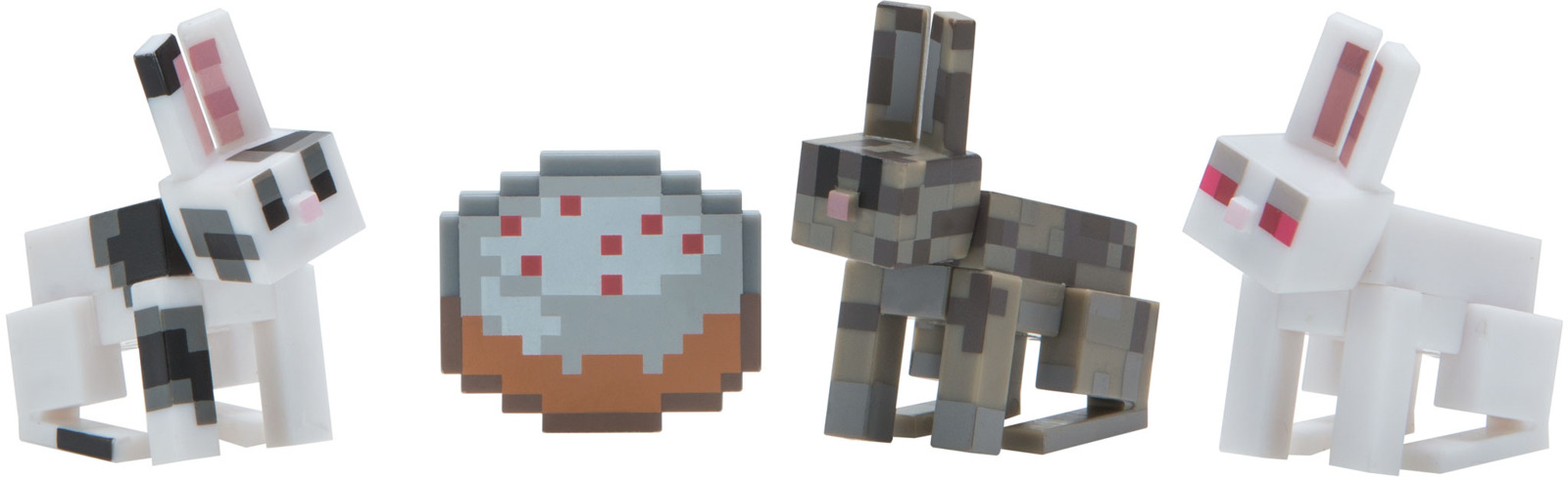 Набор фигурок Minecraft Chase Bunnies, 3 шт набор фигурок minecraft blacksmith with apron and anvil 8 см