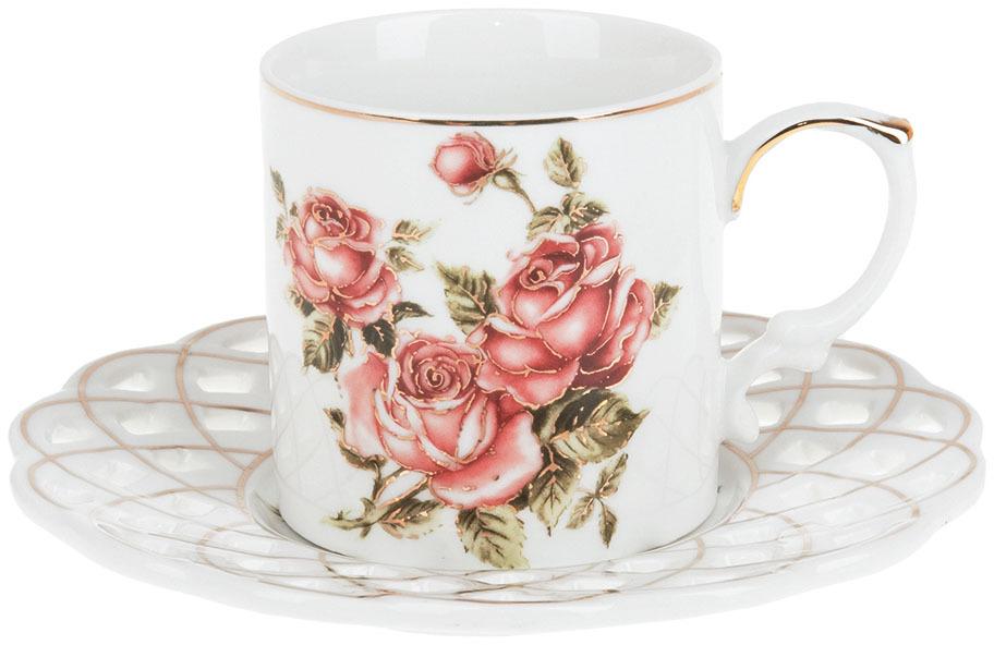 Набор кофейный Best Home Porcelain Рубиновые розы, 175 мл, 4 предмета чайник заварочный best home porcelain рубиновые розы 1 л