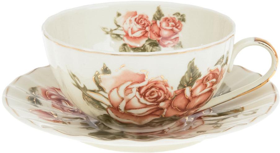 Набор чайный Best Home Porcelain Рубиновые розы, 250 мл, 4 предмета чайник заварочный best home porcelain рубиновые розы 1 л