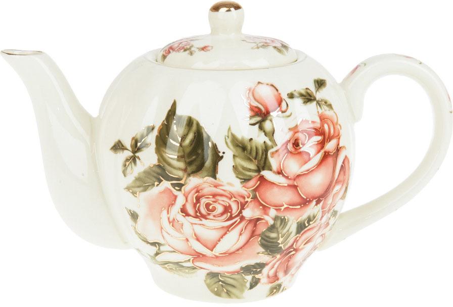 Чайник заварочный Best Home Porcelain Рубиновые розы, 1 л чайник заварочный best home porcelain рубиновые розы 1 л