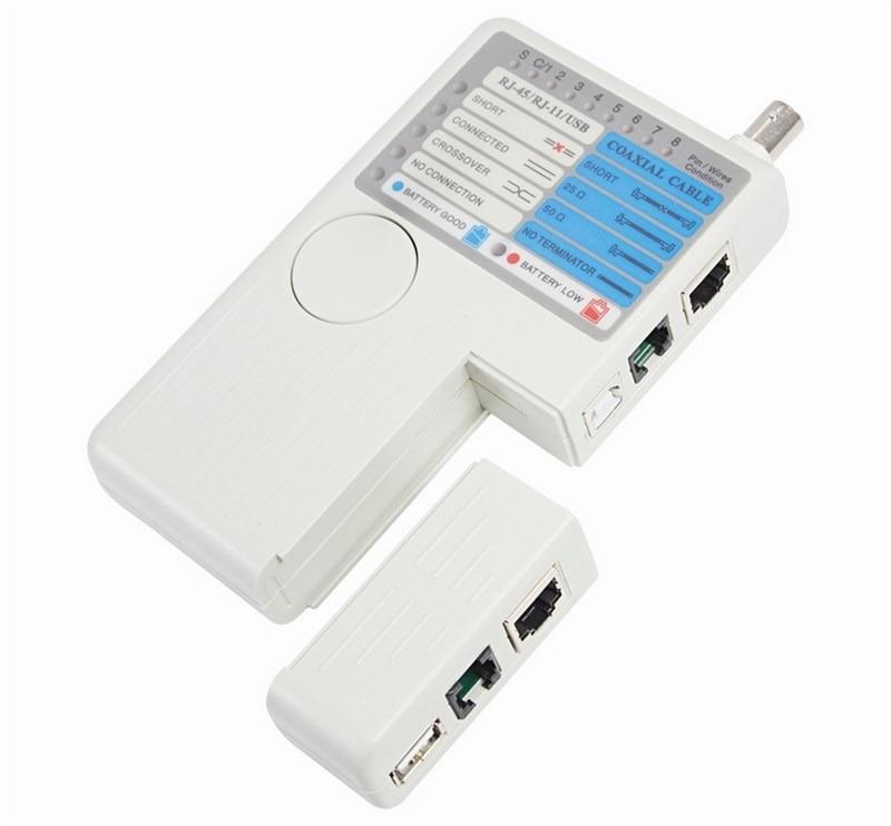 Тестер кабеля универсальный Rexant HT-2468B, для RJ-45+RJ-11+RJ-12+USB+BNC