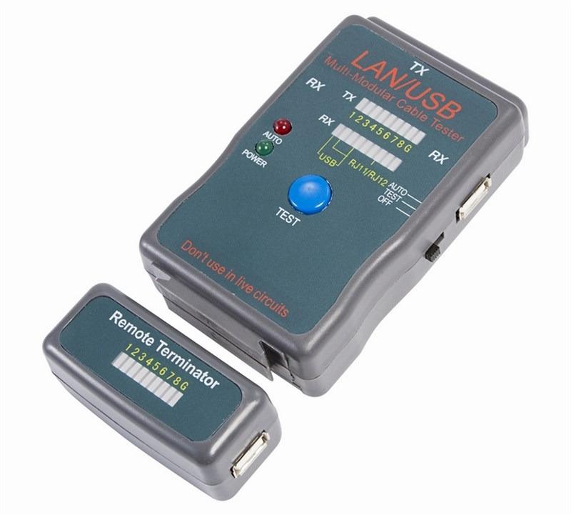 Тестер кабеля универсальный Rexant HY-251454CT, для RJ-45+USB