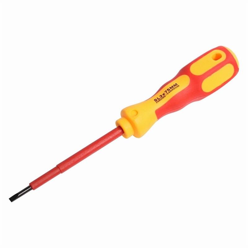 Отвертка шлицевая Reхant Электрика, SL 3 х 75 мм отвертка шлицевая rexant sl 5 х 100 мм двухкомпонентная рукоятка