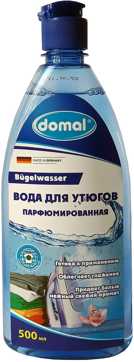Вода для утюгов Domal, парфюмированная, с антистатическим эффектом, 500 мл rail вода для утюгов с ароматом полевых цветов 950мл 12шт 20033