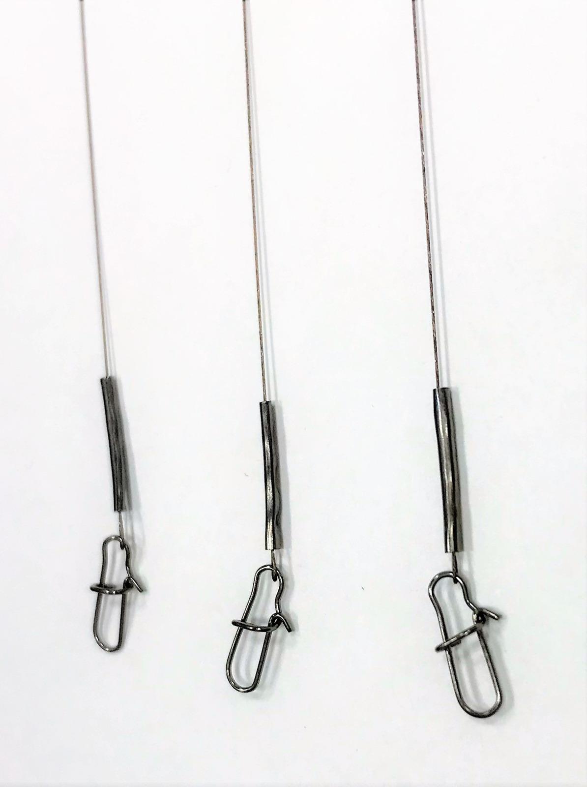 Поводок стальной APG, 1 х 7 нитей, диаметр 0,25 мм, длина 16 см, нагрузка 4 кг, 3 шт