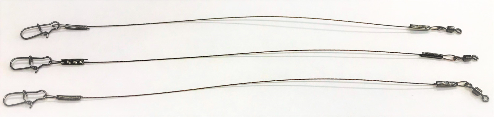 Поводок стальной APG, 1 х 7 нитей, диаметр 0,4 мм, длина 16 см, нагрузка 12 кг, 3 шт