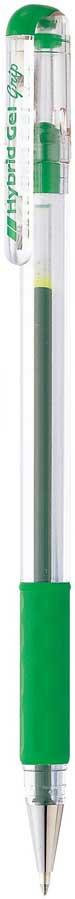 Гелевая ручка Pentel Hybrid Gel Grip, стержень 0.6 мм, цвет чернил: зеленый цена и фото