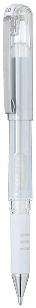 Гелевая ручка Pentel Hybrid Gel Grip DX, стержень 1 мм, цвет чернил: белый пикассо pimio ps 609 оранжевые белый клип перо финансы чернила