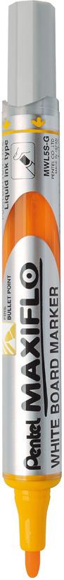 Маркер для досок Pentel Maxiflo, толщина 4.0 мм, цвет чернил: оранжевый