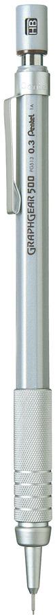 Карандаш автоматический Pentel Graphgear 500, толщина 0.3 мм
