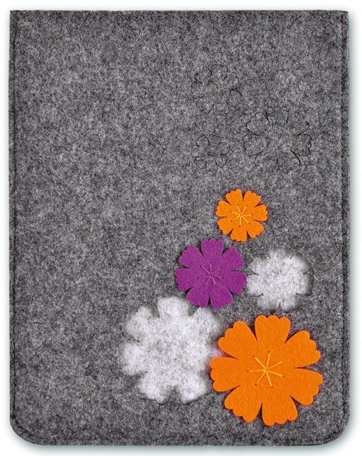 Папка для документов Феникс+ Цветы, цвет: серый игрушка для кошек 1 лабиринт с двумя мячиками и дразнилкой цвет серый 28 x 5 x 28 см