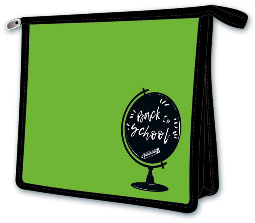 """Папка для тетрадей Феникс+ """"Глобус на зеленом"""", А5, цвет: зеленый, черный"""