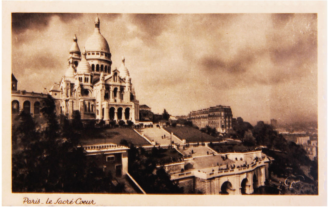 Почтовая открытка. Сакре-Кёр. Базилика Святого Сердца. Франция, середина XX века цены онлайн