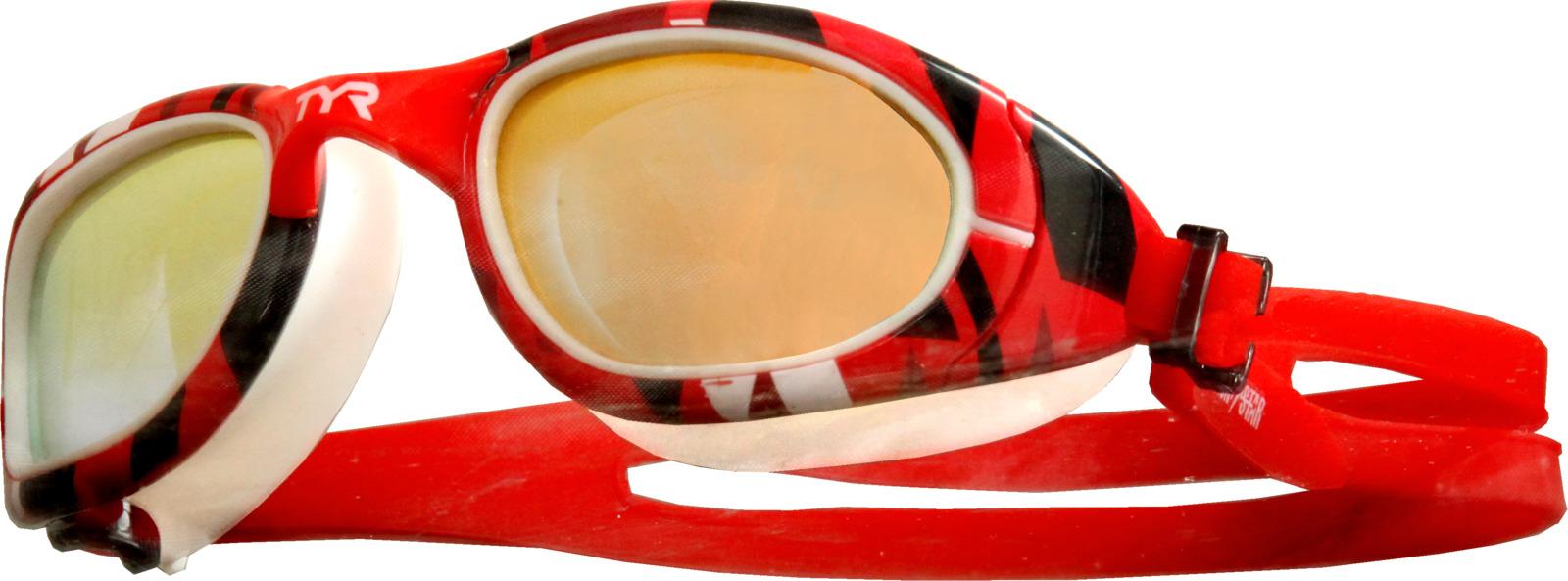 Очки для плавания TYR Ironstar Special Ops 2.0, цвет: белый, красный