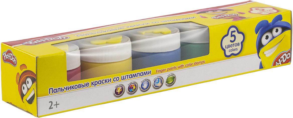 Краска пальчиковая Play-Doh, 5 цветов play doh краски гуашевые 6 цветов