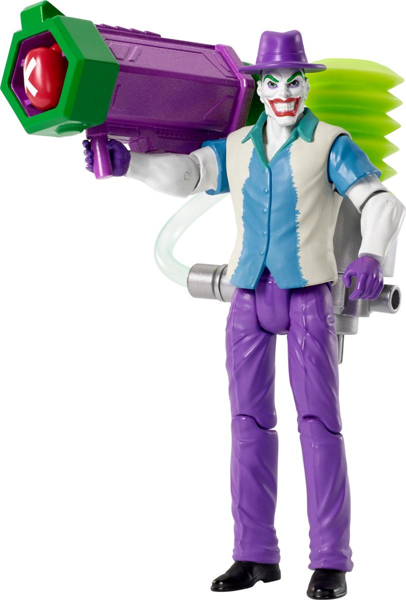 Фигурка Batman Делюкс. FVY36_FVY38FVY36_FVY38Приготовьтесь к новой битве вместе с фигурками Бетмена и Джокера. У каждого из них есть стреляющее вручную воздушное оружие. У каждого персонажа (15 см) свой культовый костюм и 14 подвижных суставов. Каждая фигурка продается отдельно.