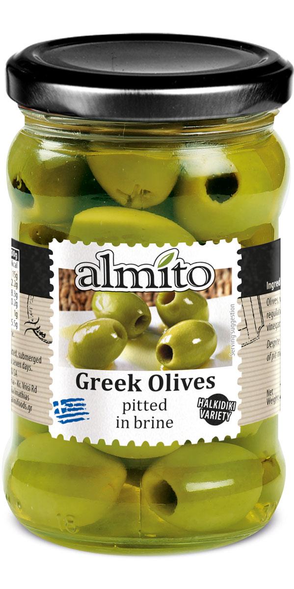 Греческие оливки без косточки Almito, 320 мл