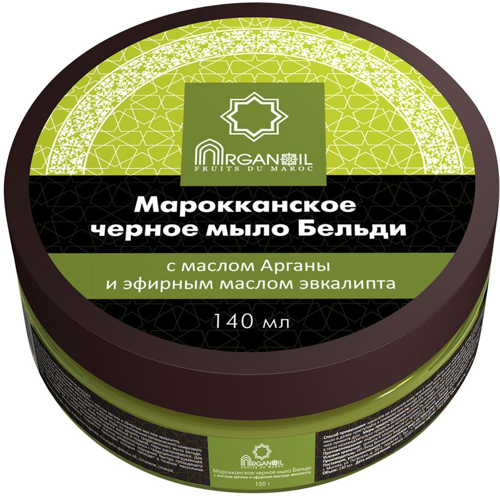 """Марокканское черное мыло Дом Арганы """"Бельди"""" с маслом арганы и эфирным маслом эвкалипта, 140 мл"""