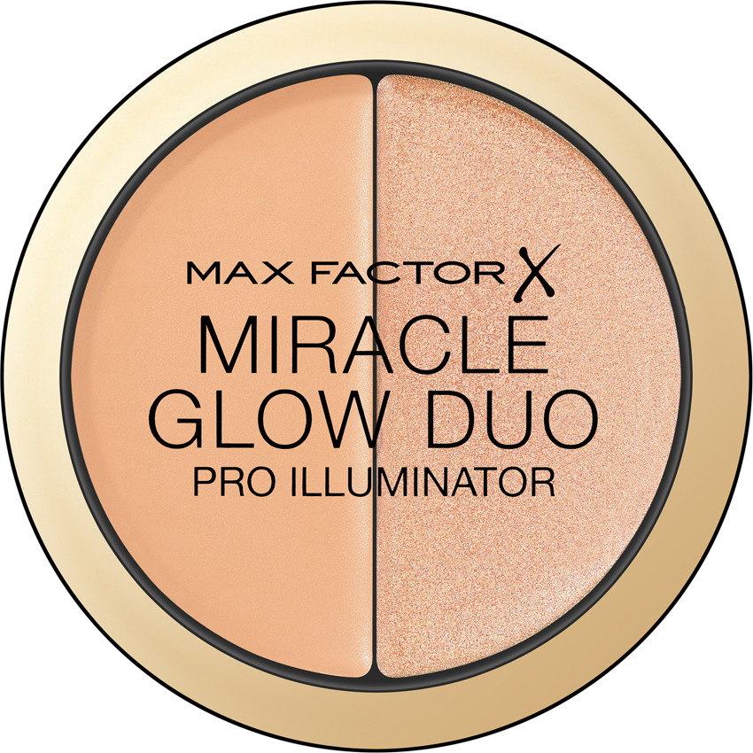 Max Factor Хайлайтер Miracle Glow Duo, тон №20 medium хайлайтер by terry glow expert duo stick 3 цвет 3 peachy petal variant hex name f89f97