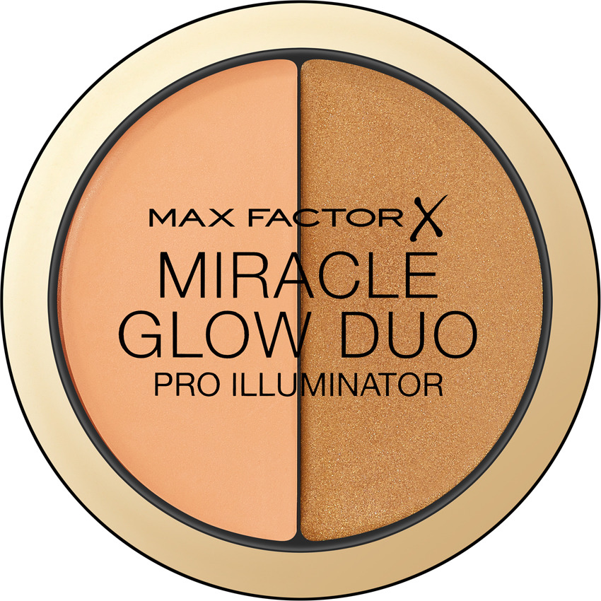 Max Factor Хайлайтер Miracle Glow Duo, тон №30 deep хайлайтер by terry glow expert duo stick 3 цвет 3 peachy petal variant hex name f89f97