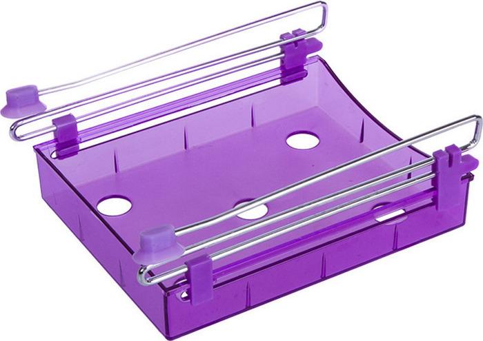 Органайзер для холодильника Homsu, на металлическом основании, цвет: фиолетовый, 15 х 12 х 4 см органайзер для холодильника homsu органайзер для холодильника