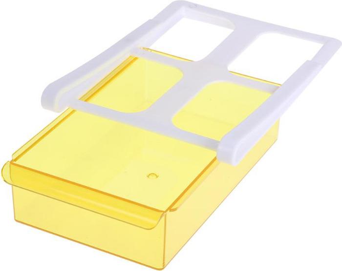 Органайзер для холодильника Homsu, на пластиковом основании, цвет: желтый, 20 х 15 х 6,8 см органайзер для холодильника homsu органайзер для холодильника