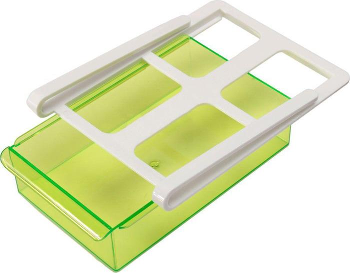 Органайзер для холодильника Homsu, на пластиковом основании, цвет: зеленый, 20 х 15 х 6,8 см органайзер для холодильника homsu органайзер для холодильника