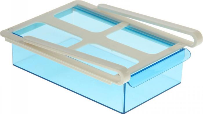 Органайзер для холодильника Homsu, на пластиковом основании, цвет: синий, 20 х 15 х 6,8 см органайзер для холодильника homsu органайзер для холодильника