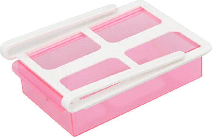 Органайзер для холодильника Homsu, на пластиковом основании, цвет: розовый, 20 х 15 х 6,8 см органайзер для холодильника homsu органайзер для холодильника
