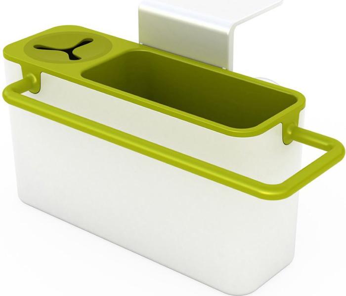 Органайзер для раковины Homsu, цвет: белый, зеленый, 19 х 9,5 х 16 см