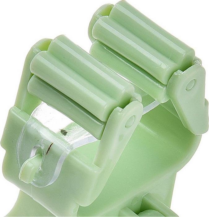 Держатель для швабры Homsu, настенный, цвет: зеленый, 16 х 7 х 10 см, 2 шт