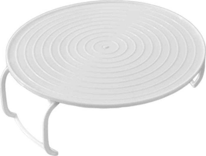 Подставка кухонная Homsu 3 в 1, цвет: белый, 23,5 х 23,5 х 8,5 смHOM-1047При помощи данной подставки вы сможете: 1.Разогреть за один раз сразу две тарелки с едой 2. На нее можно поставить тарелку, а потом без труда вытащить ее, не обжигая руки. 3. Использовать как крышку, чтобы блюдо дольше оставалось горячим.