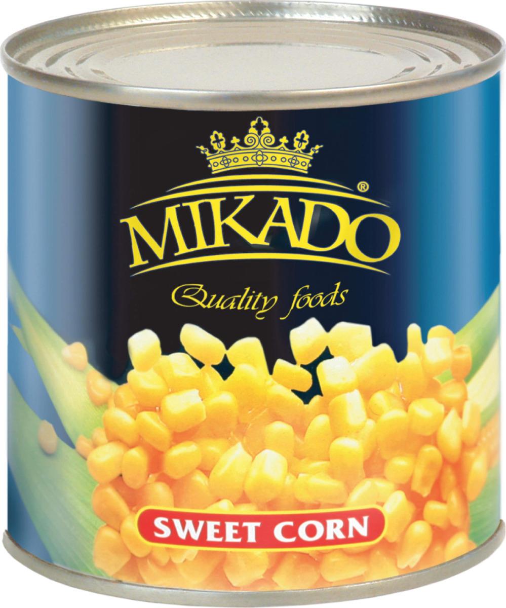 Микадо Кукуруза сладкая, 340 г кукуруза bonduelle сладкая 340г