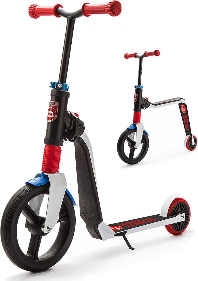 Беговел-самокат детский Scoot&Ride Highway Freak, цвет: белый, красный, синий