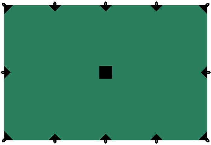 """Тент """"Tramp"""", цвет: зеленый, 4 х 6 м"""